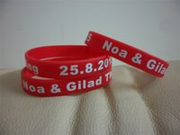 Wholesale Screen Print Silicone Bracelet - 200PCS Lot Custom silicone wristband with your personal message. Personalized Screen Print silicone bracelets.Custom silicone bracelet. A002