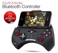 contrôleur noir achat en gros de-Ipega PG-9025 Manette de jeu Bluetooth pour Gamepad pour iPhone iPad Samsung HTC Moto Tablet PC Android noir / blanc