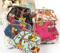 Wholesale Cheap Purses Wallets Wholesale - Hot fashion Stylist Multichoice Color Owl Patten PU Women Girls Coin Money Bag Purse Wallet Cheap Free Ship
