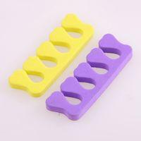 Wholesale Eva Foam Finger - Wholesale-1pcs EVA Foam Heart Toe Separator Soft Foam Nail Tools Sponge Toe Finger Separator Nail Art Tool