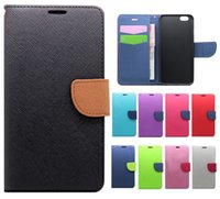 Wholesale Cases For Iphone Cross - 2016 New Cross pattern flip case for iphone 6s , for 6plus 5 5s note5with stand card Slot Wallet pu leather phone cover case