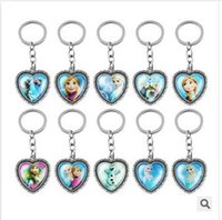 Wholesale Dhgate Designs - 10 Design keychain Cartoon Movie Frozen key chain Sven Elsa Anna Olaf keychains for Girls Christmas gifts Dhgate Free shipping A531