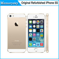 5s noir 16gb France-Original Factory Unlocked apple iphone 5s téléphone 16 Go ROM IOS Blanc Noir Or GPS GPRS A7 IPS LTE Refurbished Téléphone portable DHL 002832