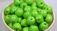 ingrosso mele verdi di plastica artificiale-Frutta artificiale Mela verde Simulazione mela plastica mela casa matrimonio Decorazione Fotografia puntelli