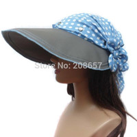 Wholesale Uv Hat Neck Protection - Wholesale-New Woman Multifunction Wide Brim Sun Hat Outdoor Neck UV Protection Cap Riding Cap Free Shipping