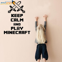 Wholesale Kids Room Wall Art Quotes - keep calm and play game wall stickers kids room home decor zooyoo8325 adesivo de parede playroom vinyl decals mural art quotes
