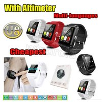 Wholesale Cheap Android Note Phones - 50 cheap Bluetooth Smartwatch U8 U Watch Smart Watch Wrist Watches for iPhone 6 Samsung Note HTC Android Phone Smartphones retail package