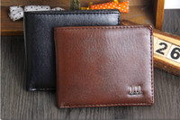 Wholesale Cheap Leather Wallets Men - Cheap Wallets Men Wallet Best PU Men Purse Vintage Men's Wallet Fine Bifold Brown PU Leather Money Purse Wallet Wallet For Men Wallets