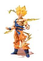Wholesale Dragon Ball Z Figures Actions - Anime Dragon Ball Z Super Saiyan Son Goku PVC Action Figure Collectible Toys 17CM Kids toys