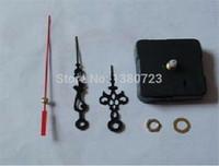 Wholesale Clock Kits Wholesale - 200pcs lot Quartz Clock Movement Kit Spindle Mechanism Repair with hand sets
