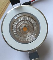 Wholesale Dimmable Warm White 9w - Newest 9w Dimmable New Very Bright LED COB chip downlight Recessed LED Ceiling light Spot Light Lamp Cold White White  warm white