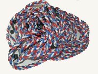 Wholes DHL grátis 16 '', 18 '', 20 '', 22 '' Titanium Baseball Titanium 3 Rope Braided Tornado Sport Necklace