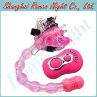 Wholesale Strap Ons Vibrator - Butterfly Remote Control 7 Modes Anal & Clit Stimulating Strap Ons Vibrators, Women Anal Toys Sex Toys Adult Sex Products
