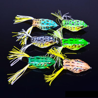 Wholesale 12g lures resale online - Topwater Surface Swimming Popper Fishing Artificial Lure cm g Soft frog shape Baits Freshwater Crankbaits Lures