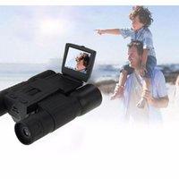 Wholesale Binocular Digital Video Camera - New 12X Zoom Digital Telescope Video Camera HD 1280x720P With 2.0 inch LCD Screen FS308 Digital Binocular Cameras