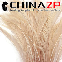 Wholesale Ivory Peacock - Gold Manufacturer CHINAZP Crafts Factory 30~40cm(12~16inch) Length Best Quality Ivory Dyed Peacock Swords Cut Feathers for Party Decorations