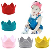 5 Farben Baby Stricken Krone Tiaras Kinder Infant Häkeln Stirnband Neugeborenen Winter Warme Hut Geburtstag Party Fotografie Requisiten Beanie Bonnet