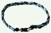 Wholesale Ge Titanium Necklaces - 2015 retail new 120pcs 3 Ropes Tornado Titanium Necklaces X45 Athletes Energy Triple Necklace flat clasp GE