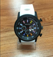 Wholesale Round Clothes Pins - High quality Italy clothing luxury brand watch High quality Marine design version silicone TechnoMarine NAUTICA INVICTA Style Unisex watch