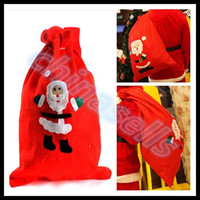 Wholesale F Pouches - big size Christmas gift Sack Xmas Sack Santa Claus Sack bags Drawstring Pouch big Santa Gift Present Bag 70*50cm