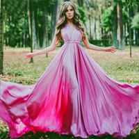 zarif seksi üniforma elbise toptan satış-Seksi V Yaka Zarif Backless Ipek Fotoğraf Uzun Tren Abiye Kırmızı Fasulye Ünlü Elbise 2017 Gelin Önlükler