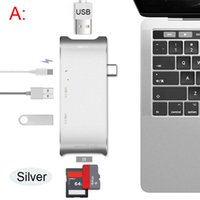 Adaptador USB Hub Hub-To HDMI Adaptador Dock USB C Hub 3.0 Adaptador Thunderbolt3 Combo Con ranura SD para MacBook Pro 2016 2017