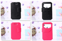 Wholesale Htm Inch - Special Design 5 inch leather case Colorful PU Leather Case Cover For HTM H9503 mobile phone