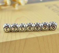 Wholesale Pandora Glass Beads Cheap - Charm 0-9 Digital Bead!925 silver beads for Pandora bracelets necklaces!fashion Jewelry,DIY jewelry accessories,cheap jewelry!15pcs.WD