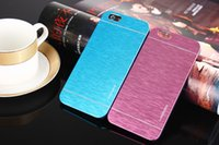 Wholesale Dust Covers For Cell Phones - MOTOMO Brushed Metal Aluminium Alloy + Hard PC Case For iPhone 6 6G 4.7 5.5 inch Samsung S3 S4 S5 Luxury Cell Phone Cases Dust Proof Cover