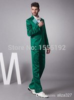 Wholesale Mens Wedding Suits Discounted - Wholesale-Cheap Reference 2015 Mens green Wedding Suits Groom Tuxedos Discount Cheap Reference 2015 Mens Wedding Suits Groom Tuxedos noble
