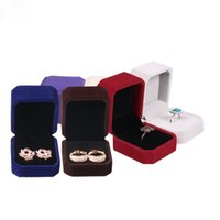 Wholesale Jewelery Ring Box - Ring Earrings Retail Boxes (8 colors to choose from) Wedding Jewelery Earrings Packaging Box Ring Holder Storage Box Jewelry Gift Box CM102