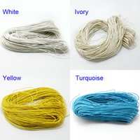 Wholesale Diy String For Bracelet - 5bundle 300M-1mm Cotton Wax Cord Jewelry Beading String Rope For DIY Macking Necklace Bracelet Cord 12 Colors U-Pick DH-FXT004
