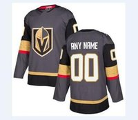 Wholesale Ice Stores - 2018 nhl hockey jerseys cheap Vegas Golden Knights Gray Home Authentic Blank Jersey store usa sports ice hockey blank customized factory AD