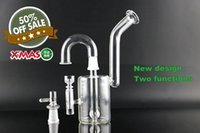"""Wholesale Snorkel Free Shipping - 2017 New Glass Snorkel Vapor Rig xmas water pipe 2.5"""" Base bubbler two functions free shipping"""