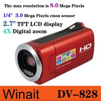 Compra Piazza Rossa-Nuovo Winait DV828 HD 720P Digital Video Camera 3MP sensore CMOS e Li-ion Red Digital Plaza spedizione gratuita