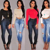 Wholesale Mix Colors S Blouses - women sexy blent cotton blouses with zipper black short long sleeve shirts , 2015 hot sales mix order 4 colors red white black khaki