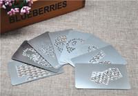 Wholesale Credit Card Grinder Wholesale - V Syndicate Big Size Credit Card Herb Grinder Stainless Steel Tobacco Grinder Classic V 420 heart and others Design Grinder Card
