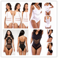Wholesale Womens 5xl Swimsuit - New Hot Sexy Gauze Hollow out Bikini Swimsuit Womens Fashion Monokini Push Up Corset One Pieces Swimwear