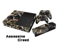 assassins creed xbox achat en gros de-Assassins Creed 0004 Fashion Decal Skin pour Xbox une console et 2PCS Xbox One Controller Skin Stickers