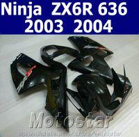 Wholesale kawasaki ninja 636 parts resale online - Motorcycle parts for kawasaki fairing ZX6R Ninja fairings kit ZX R all glossy black aftermarket SD55