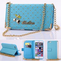 Custodia in pelle per iPhone 6 per iPhone 6 Custodia in pelle per iPhone 6 Plus con stecche per borse da donna StarsCherry