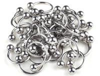 Wholesale Labret Ear - 20Pcs Lot Stainless Steel Hoop Horseshoe Ear Labret Nose Lip Septum Piercing Punk Free Shipping[BB07*20]