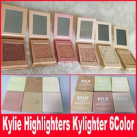 Wholesale French Wear - Kylighter Kylie Highlighters Kylie Cosmetics Strawberry Shortcake Candy Cream Salted Caramel Banana Split Kylighters French Vanilla DHL