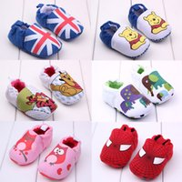 chaussures de marche pour bébé achat en gros de-Nouvelle arrivée bébé chaussures de marche pré-marcher chaussures sz 11-13 chaussures U choisir la couleur et la taille chaussures bébé porter 24pair = 12pcs Melee