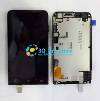 Wholesale One V Lcd - Wholesale-High Quality For HTC ONE V T320 LCD Display+Touch Digitizer Screen Assembly with frame replacement black color free shipping