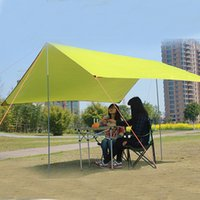 Оптовое - 300 * 290 см Водонепроницаемый Anti UV Ultralight Sun Shelter Beach Tent Pergola Thewning Canopy 190T Tarp Camping Sunshelter HW145