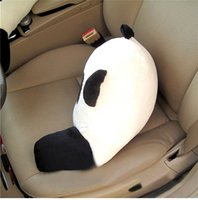 Wholesale Lumbar Pillow Panda - 1 pc Hot Selling High Quality Panda Big Eyes Car Waist Pillow Seat Back Cushion Lumbar Rest Home Plush Toy
