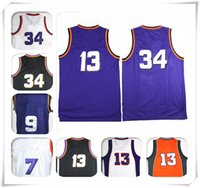 Barato Moda Por Atacado Ny-Stitched Throwback Retro Men NY jersey 34 Barkley 13 Steve Wholesale Sport Cheap Basketball Jerseys Moda quente novo FREE SHIPPING