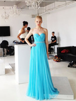 Wholesale Cheap Fresh Red Coral - Fresh Turquoise Bridesmaids Dresses Cheap 2015 Sweetheart Crystal Beaded Sash Pleats Long Women Party Prom Dress For Formal Occasion