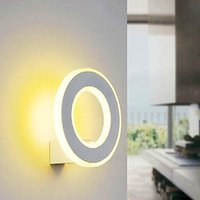 Wholesale Wall Sconces w White Acrylic Modern LED Wall Lamp Light For Bed Home Lighting